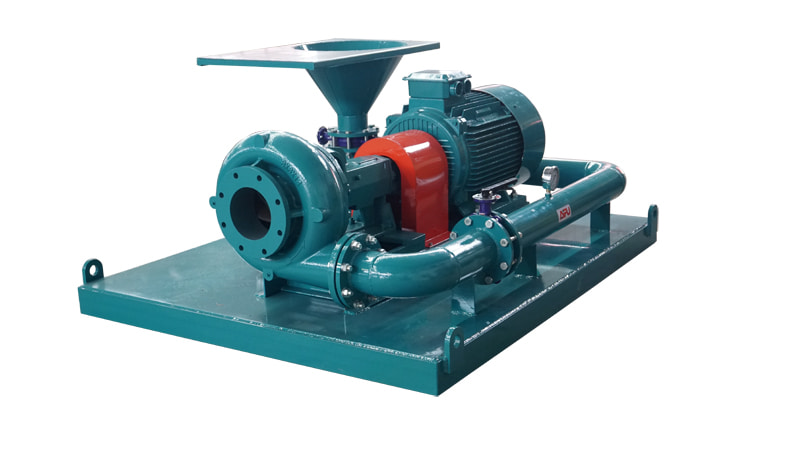 mud hopper with pump